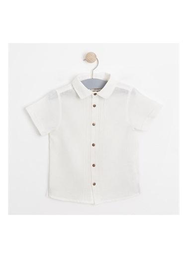 Soobe Soobe Newborn Papyonlu Gömlek Erkek Çocuk Giyim Ekru